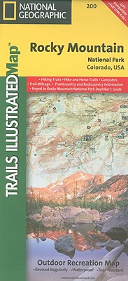 National Geographic Trails Illustrated Map Rocky Mountain National Park By Not Available